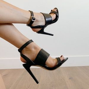Minimalist croc Topshop heels